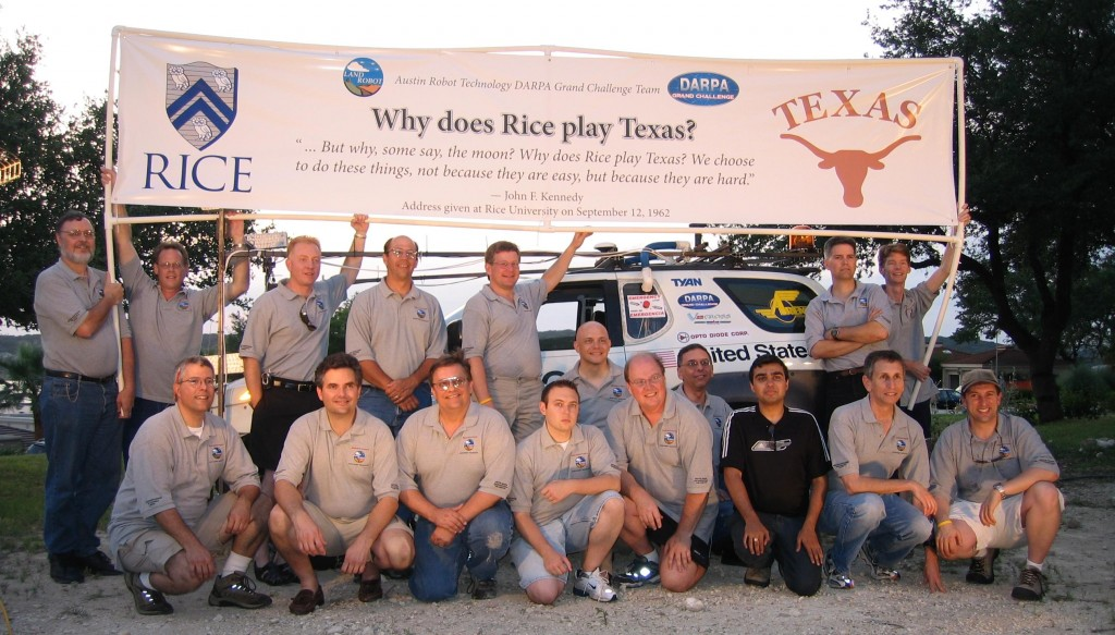 Austin Robot Technology DARPA team picture